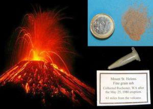 Cenere del Vulcano St. Helens